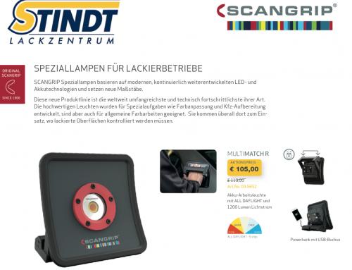 Scangrip Speziallampen für Lackierbetriebe – Neue Produktlinie