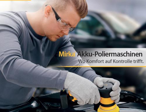 Mirka Akku-Poliermaschinen