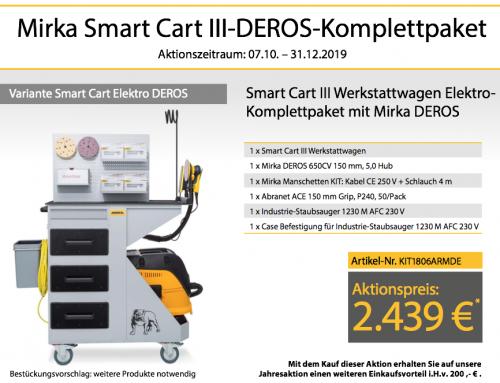 Mirka Smart Cart III-Deros Komplettpaket